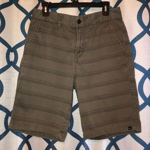 Quiksilver Men's Distressed Gray Shorts Size 30